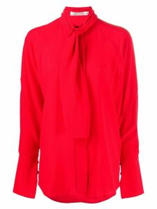 Victoria Beckham pussy bow blouse - Red