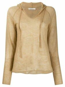 Mes Demoiselles fine knit hoodie - NEUTRALS