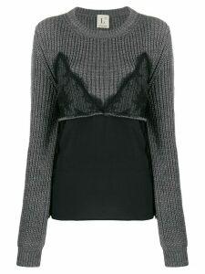 L'Autre Chose hybrid cami jumper - Grey
