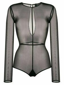 Ann Demeulemeester sheer bodysuit - Black