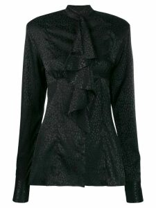 Nineminutes frill long-sleeve blouse - Black