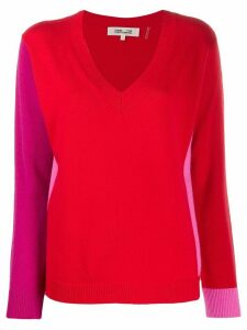 Diane von Furstenberg colour-block knitted jumper - Red