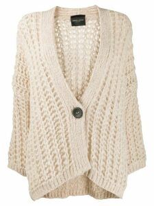 Roberto Collina open knit cardigan - NEUTRALS