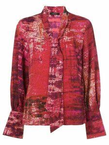 Natori tie neck blouse - Red