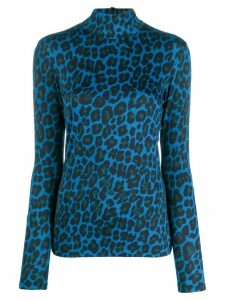 Paul Smith leopard print sweater - Blue