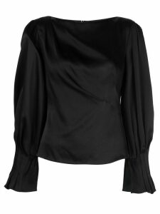 Peter Pilotto draped satin blouse - Black