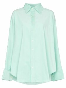 Matthew Adams Dolan oversized button-down shirt - Blue