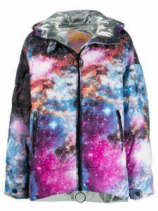 Pinko oversized printed puffer jacket - Black