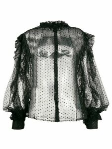 Frankie Morello Camicia sheer blouse - Black