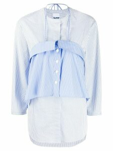 SJYP striped layered blouse - Blue