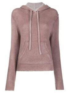 Zadig & Voltaire hooded knit jumper - PINK