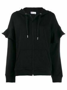 Red Valentino 'Love you' zip-up hoodie - Black