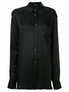 Ann Demeulemeester plain longline shirt - Black