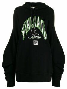 Aalto oversized beret-hood sweatshirt - Black
