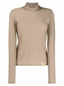 Aalto long-sleeved turtleneck top - NEUTRALS