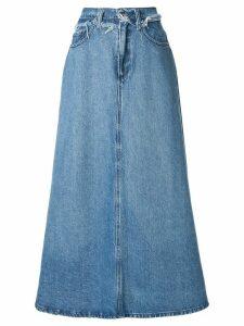 Nobody Denim Como A-line skirt - Blue