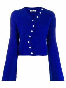 Aalto asymmetric cropped cardigan - Blue