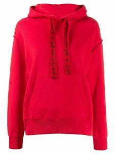 Escada oversized long-sleeved hoodie - Red