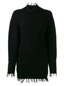 Alanui balloon sleeve knit jumper - Black