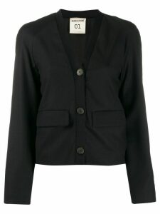 Semicouture flap pocket cardigan - Black