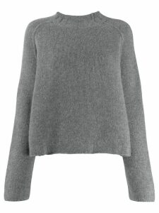 Kristensen Du Nord textured knit crew neck sweater - Grey