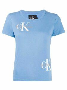 Calvin Klein Jeans multi-logo crew-neck T-shirt - Blue