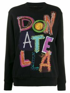 Versace Donatella Versace embellished sweatshirt - Black