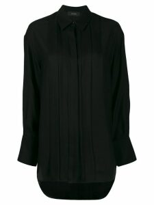 Joseph pleated button-down shirt - Black
