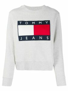 Tommy Jeans embroidered flag logo sweatshirt - Grey