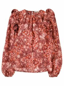 Ulla Johnson floral print blouse - Red