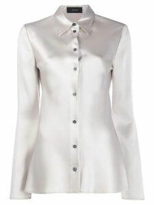 Joseph button-down long-sleeved blouse - Neutrals