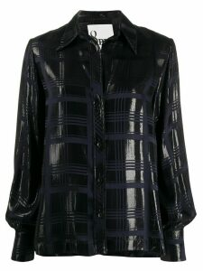 8pm metallic tartan shirt - Blue