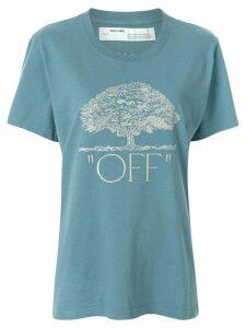 Off-White tree print T-shirt - Blue