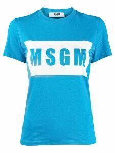 MSGM logo print T-shirt - Blue