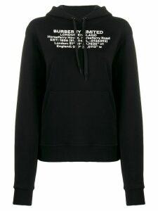 Burberry printed hoodie - Black