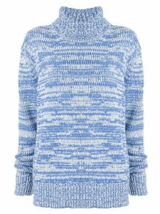 CK Calvin Klein marbled rollneck sweater - Blue