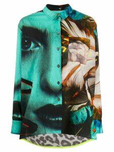 Paul Smith print-mix shirt - Blue