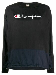 Champion logo embroidered sweatshirt - Blue