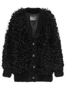 Miu Miu shearling cardigan - Black