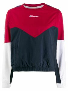Champion colour blocked layered sweatshirt