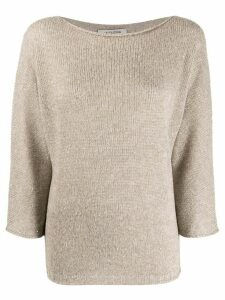 La Fileria For D'aniello sequin-embroidered jumper - NEUTRALS