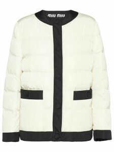 Miu Miu cropped puffer jacket - White