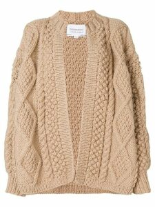I Love Mr Mittens chunky-knit wool cardigan - Brown