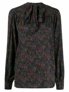 Polo Ralph Lauren floral print pussy-bow blouse - Blue