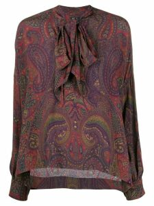 Polo Ralph Lauren paisley print pussy-bow blouse - Red