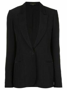 Kiki de Montparnasse silk lined tuxedo blazer - Black