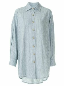 Framed Brunei elongated shirt - Blue
