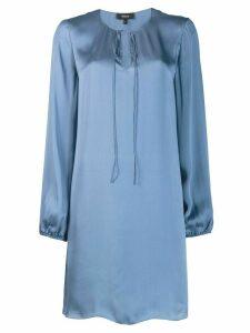 Theory sweetheart neckline day dress - Blue