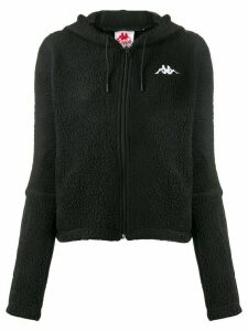 Kappa logo fleece hoodie - Black