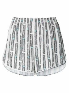 Lygia & Nanny Lee printed jersey shorts - White